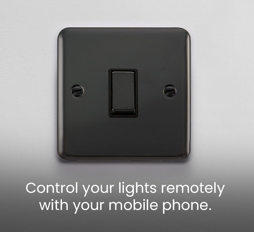 Control your lights remotely <br />with your mobile phone.