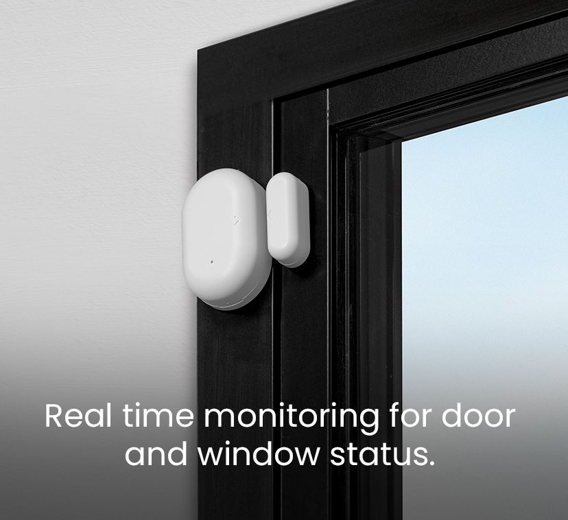 Real time monitoring for door and window status.